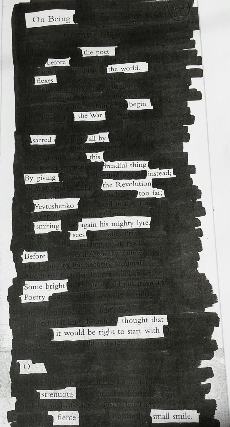 blackout poem
