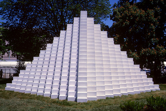 Four Sided Pyramid Sol Lewitt